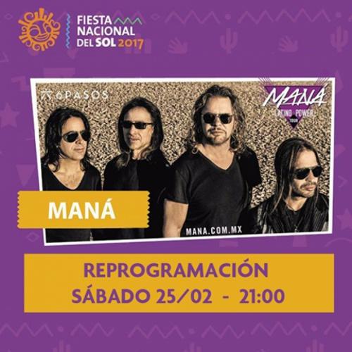 #Maná: Conocé la reprogramación debido al temporal acontecido en San Juan